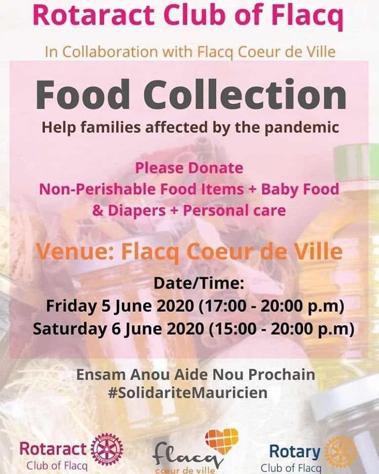 Food collection 5 et 6 june